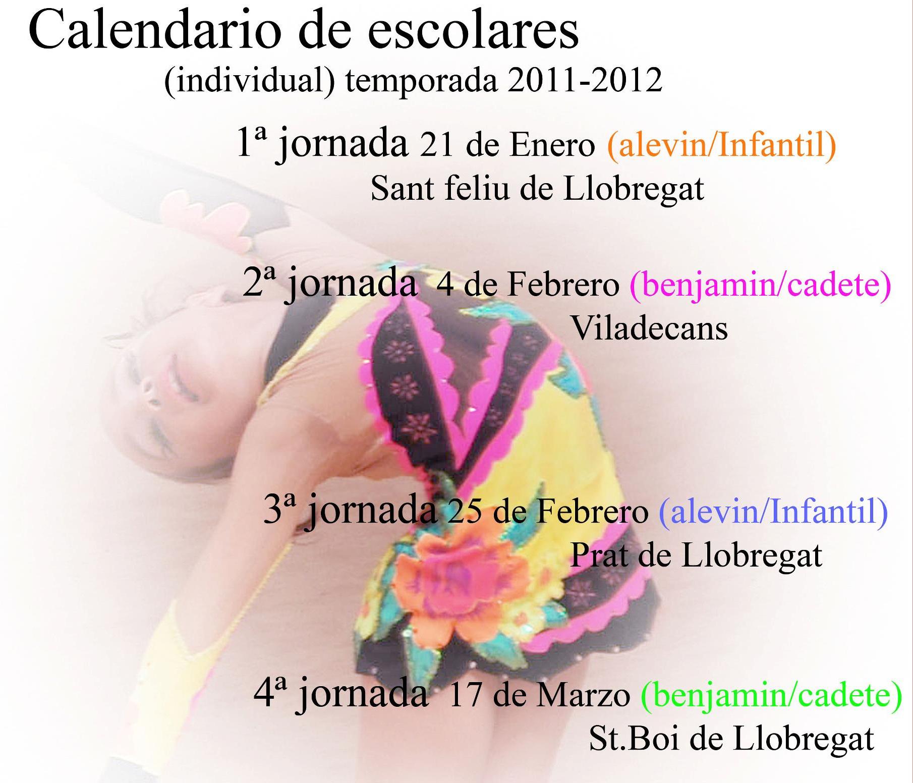 Calendario JJEE's Indiv.
