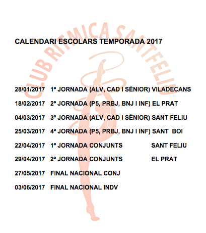 Calendari Escolars 2017